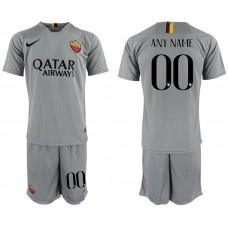 Men 2018-2019 club Rome away customized grey Soccer Jerseys