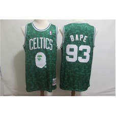 Men Boston Celtics 93 Bape Green Stitched NBA Jersey