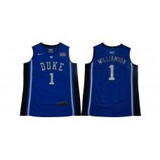 Men Duke Blue Devils 1 Zion Williamson Blue Basketball Elite Stitched NCAA Jersey