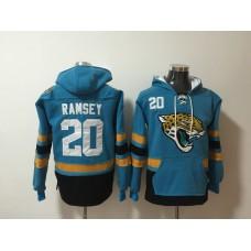 Men NFL Nike Jacksonville Jaguars 20 Ramsey blue Sweatshirts