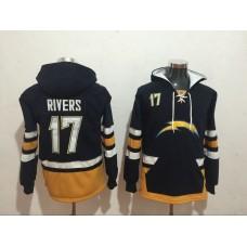 Men NFL Nike Los Angeles Chargers 17 Rivers black Sweatshirts