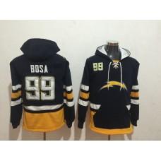 Men NFL Nike Los Angeles Chargers 99 Bosa black Sweatshirts