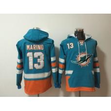 Men NFL Nike Miami Dolphins 13 Marino blue Sweatshirts