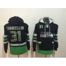 Men NFL Nike Seattle Seahawks 31 Chancellor black Sweatshirts