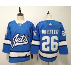 Men Winnipeg Jets 26 Wheeler Blue Adidas Alternate Authentic Stitched NHL Jersey
