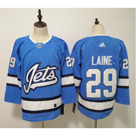 Men Winnipeg Jets 29 Laine Blue Adidas Alternate Authentic Stitched NHL Jersey