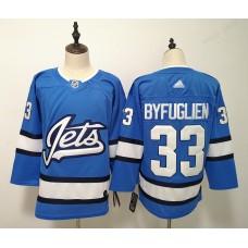 Men Winnipeg Jets 33 Byfuglien Blue Adidas Alternate Authentic Stitched NHL Jersey