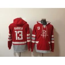 2018 NBA Men Houston Rockets 13 Harden Red Swearshirt