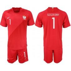 Men 2018 World Cup Poland away 1 red soccer jersey