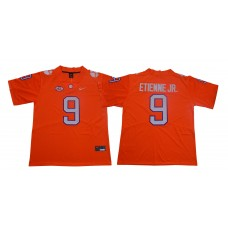 Men Clemson Tigers 9 Travis Etienne Jr. Orange Nike Limited Stitched NCAA Jersey