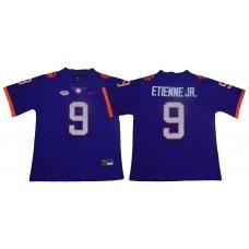 Men Clemson Tigers 9 Travis Etienne Jr. Purple Nike Limited Stitched NCAA Jersey