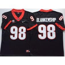 Men Georgia Bulldogs 98 Blankenship Black Nike NCAA Jerseys