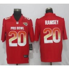 Men Jacksonville Jaguars 20 Ramsey Red Nike Royal 2019 Pro Bowl New Nike Limited NFL Jersey