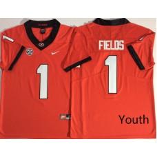 Youth Georgia Bulldogs 1 Fields Red Nike NCAA Jerseys