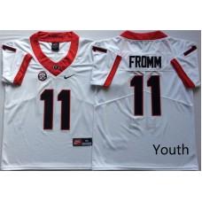 Youth Georgia Bulldogs 11 Fromm White Nike NCAA Jerseys