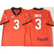 Youth Georgia Bulldogs 3 Smith Red Nike NCAA Jerseys