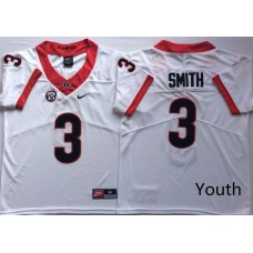 Youth Georgia Bulldogs 3 Smith White Nike NCAA Jerseys