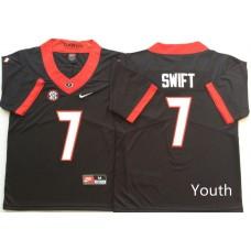 Youth Georgia Bulldogs 7 Swift Black Nike NCAA Jerseys
