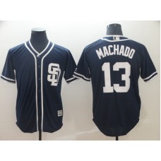 2019 MLB Men San Diego Padres 13 Machado blue game Jerseys