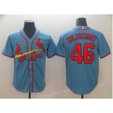 2019 MLB Men St.Louis Cardinals 46 Goldschmidt blue game Jerseys