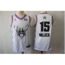 Men Charlotte Hornets 15 Walker White 2019 All Star NBA Jerseys