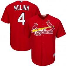 Men St. Louis Cardinals 4 Molina Red Game MLB Jersey