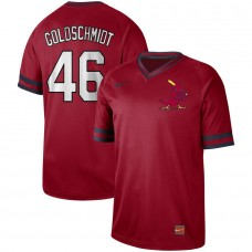 Men St. Louis Cardinals 46 Goldschmidt Red Nike Cooperstown Collection Legend V-Neck MLB Jersey
