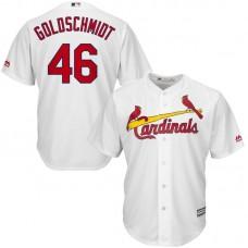 Men St. Louis Cardinals 46 Goldschmidt White Game MLB Jersey