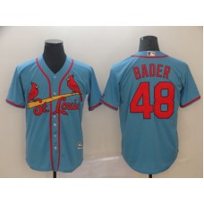 Men St. Louis Cardinals 48 Bader Blue Game MLB Jersey