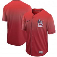 Men St. Louis Cardinals Blank Red Nike Fade MLB Jersey