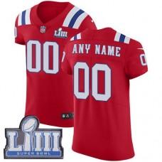 2019 NFL Men Customized New England Patriots Vapor Untouchable Super Bowl LIII  red jersey
