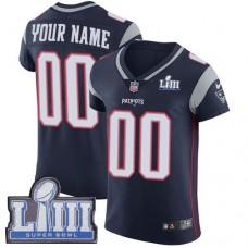 2019 NFL Men Customized New England Patriots Vapor Untouchable Super Bowl LIII blue2 jersey