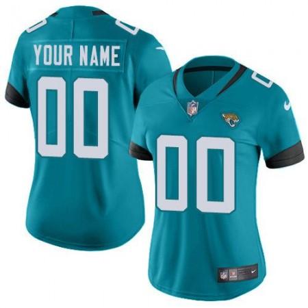 2019 NFL Women Nike Jacksonville Jaguars Teal Green Team Color Stitched Custom NFL jersey