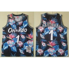 Men 2019 NBA Nike Orlando Magic 1 Hardaway Black fashion Jersey