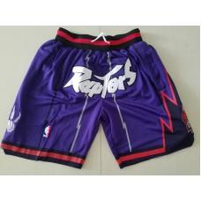 Men 2019 NBA Nike Toronto Raptors purple shorts