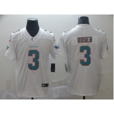 Men Miami Dolphins 3 Rosen White Vapor Untouchable Playe Nike Limited NFL Jerseys
