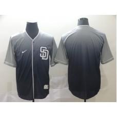 Men San Diego Padres Blank Grey Nike Fade MLB Jersey