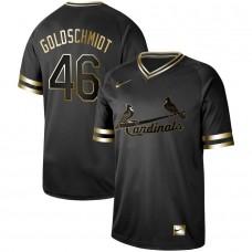 Men St.Louis Cardinals 46 Goloschmidt Nike Black Gold MLB Jerseys
