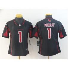 Women Arizona Cardinals 1 Murray Black Nike Color Rush NFL Jerseys