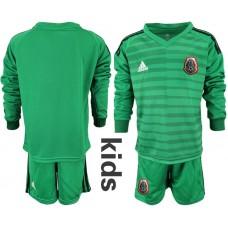 Youth 2019-2020 Season National Team Mexico green long sleeve goalkeeper Soccer Jerseys