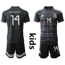Youth 2019-2020 Season National Team Mexico home black 14 Soccer Jerseys