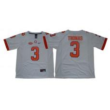 Men Clemson Tigers 3 Thomas White Nike NCAA Jerseys