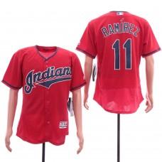 Men Cleveland Indians 11 Ramirez Red Elite MLB Jerseys