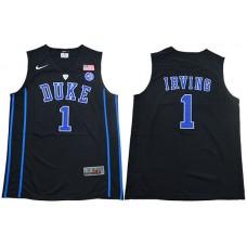 Men Duke Blue Devils 1 Irving Black Nike NBA NCAA Jerseys