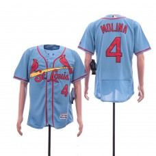 Men St. Louis Cardinals 4 Molina Blue Elite MLB Jerseys