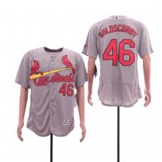 Men St.Louis Cardinals 46 Goloschmidt Grey Elite MLB Jerseys