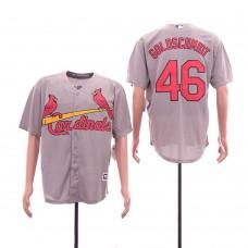 Men St.Louis Cardinals 46 Goloschmidt Grey Game MLB Jerseys