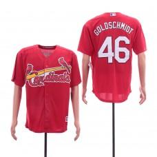 Men St.Louis Cardinals 46 Goloschmidt Red Game MLB Jerseys