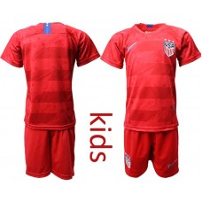 Youth 2019-2020 Season National Team USA away long sleeves red Soccer Jerseys