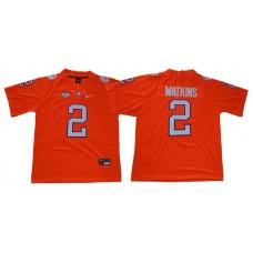 Men Clemson Tigers 2 Watkins Orange Nike Limited Stitched NCAA Jersey